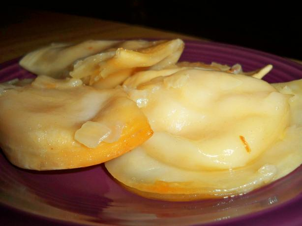 Crock Pot Potluck Pierogies With Sauteed Onions and Butter. Photo by Lainey6605