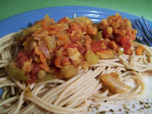 Lentil Bolognese. Photo by Sharon123