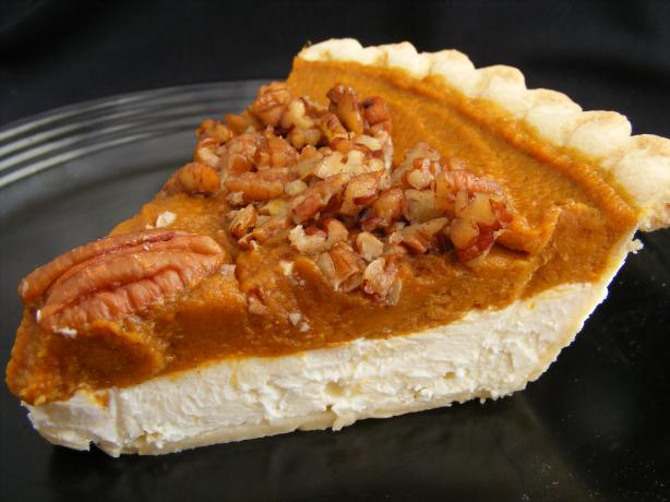 Pumpkin Cream Cheese Layer Pie. Photo by Seasoned Cook