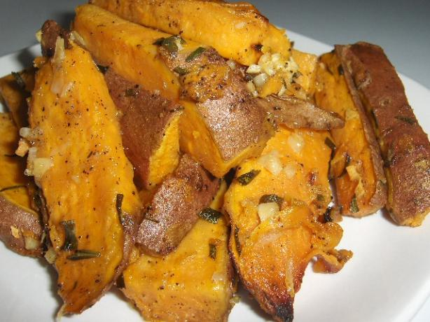 Sweet Potatoes Roasted With Garlic and Rosemary. Photo by daisygrl64