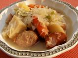 Sweet and Sour Sauerkraut Kielbasa Stew
