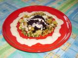 Black Forbidden Rice  &  Eggplant With Almond Cream Sauce