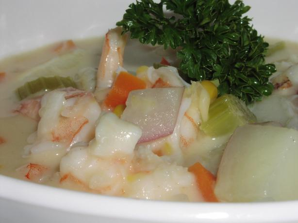 Creamy Delicious Seafood Chowder. Photo by TeresaS