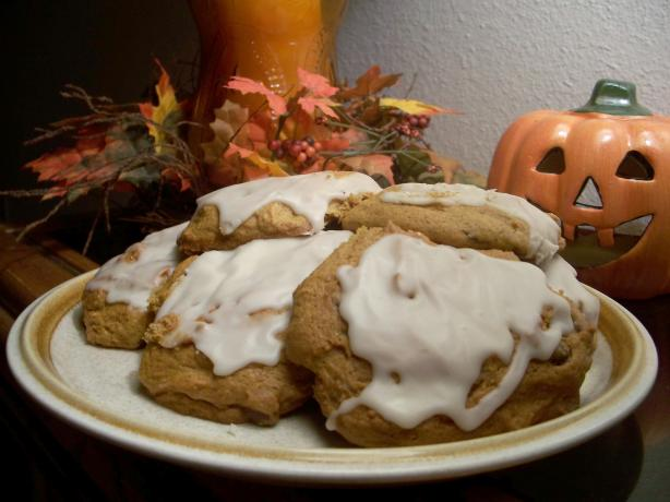 Glazed Soft Pumpkin Cookies. Photo by Marsha D.
