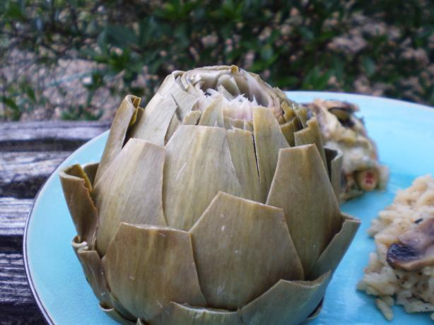 Artichokes Steamed in the Microwave. Photo by breezermom
