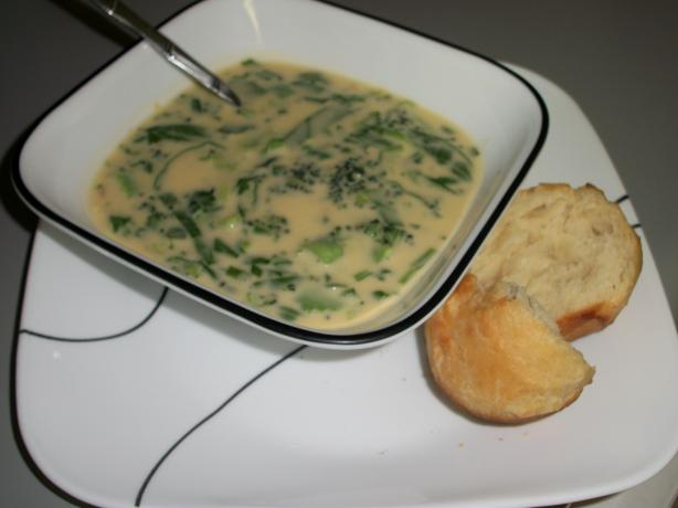Broccoli Cheese Soup for Two. Photo by quirkycook