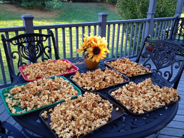 Wormy Caramel Corn for Halloween. Photo by Cookin'Diva