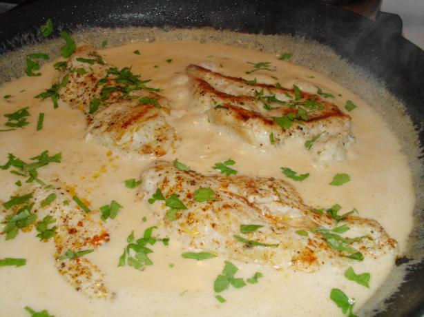 Chicken in Creamy Chipotle Sauce. Photo by vivmom