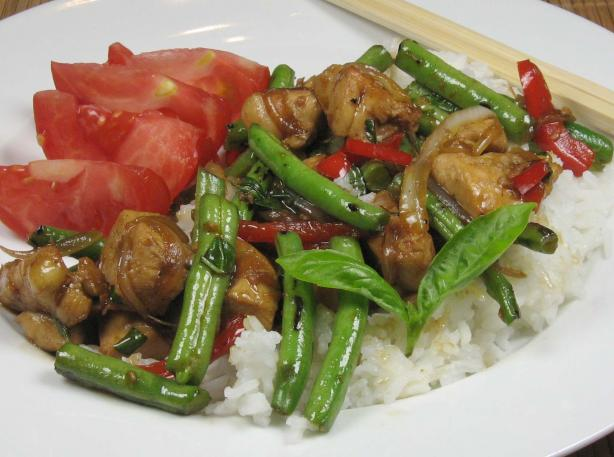Thai Basil Chicken. Photo by dianegrapegrower