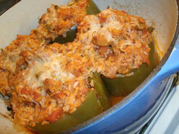 Turkey Stuffed Green Bell Peppers. Photo by Blissful74