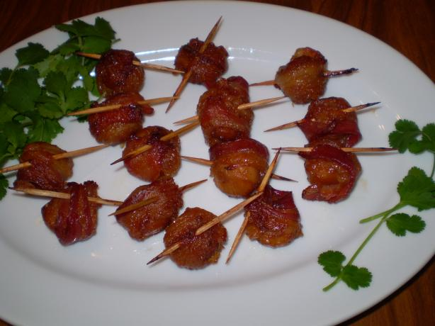 Bacon-Wrapped Water Chestnuts. Photo by TasteTester
