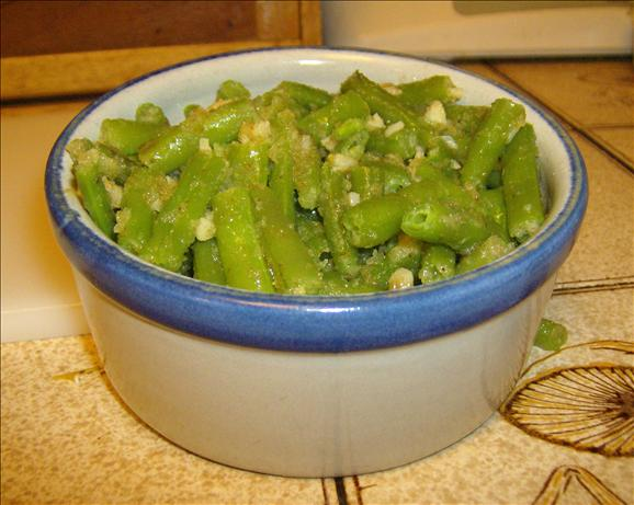 Garlicky Green Beans. Photo by Marie Nixon