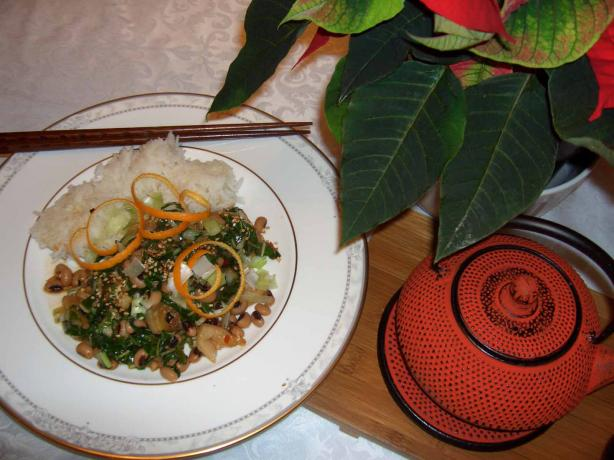 Black-Eyed Peas & Chinese Greens. Photo by mersaydees