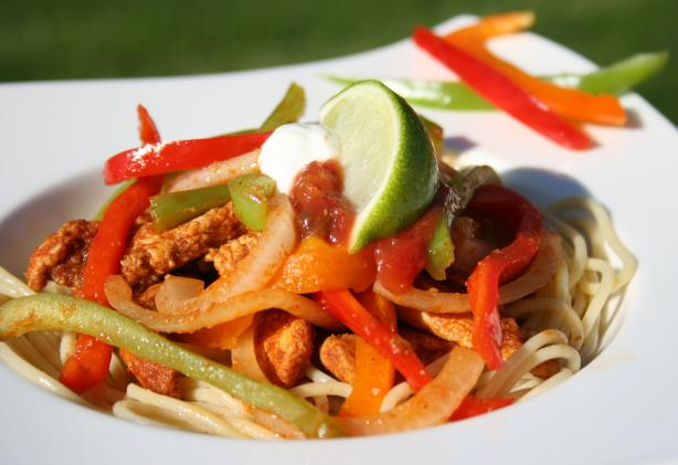 Chicken Fajita Pasta. Photo by **Tinkerbell**