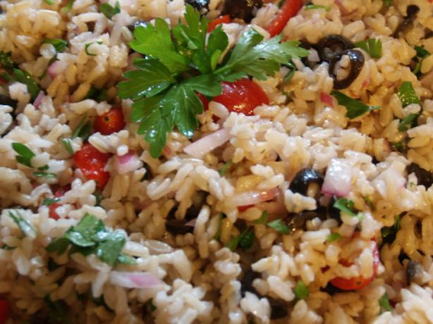 Super Easy Brown Rice Salad. Photo by TattooedMamaof2