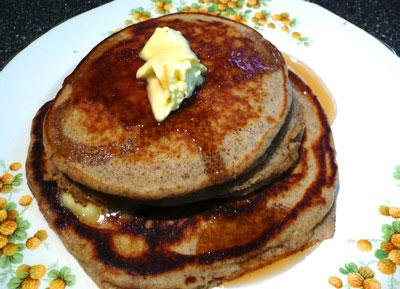 Whole Grain Pancakes That Don't Taste Like It!. Photo by Mikekey