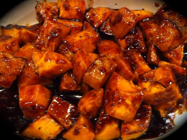 Roasted Sweet Potatoes With Orange Marmalade and Balsamic Glaze. Photo by Chicagoland Chef du Jour