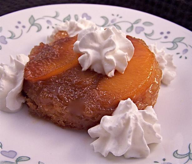 Individual Peach Upside-Down Cake. Photo by PaulaG