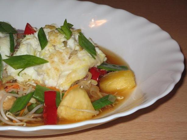 Barbecued Sweet and Sour Blue - Eye Cod. Photo by The Flying Chef