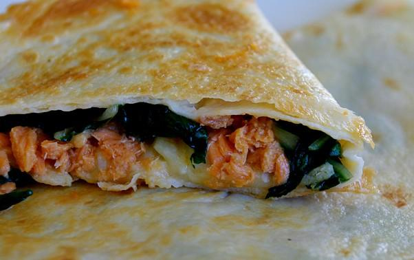 Heart-Healthy Salmon Quesadillas. Photo by AmandaInOz