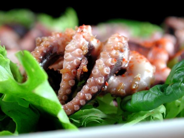 Squid Salad or Octopus Salad - Japanese Style. Photo by Chef floWer