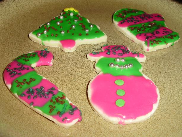 Low-Fat Holiday Sugar Cookies With Icing That Hardens. Photo by I Can't Believe It's Healthy