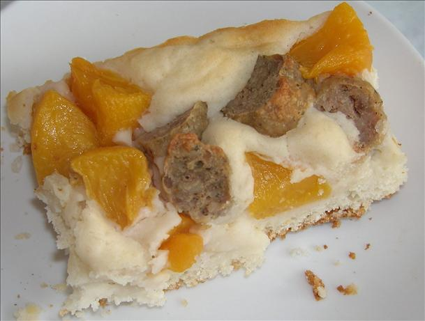 Sausage and Peach Breakfast Casserole. Photo by Cooksci