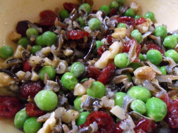 Cranberry Edamame Wild Rice Salad. Photo by Wish I Could Cook