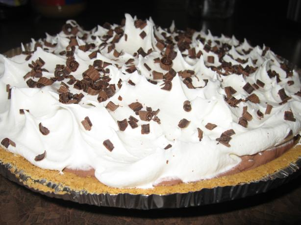 Chocolate Sour Cream Pie. Photo by Lori Ann D