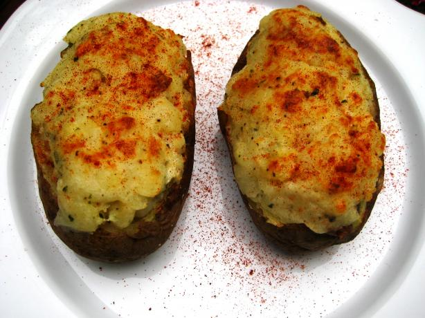 Twice-Baked Potatoes With Blue Cheese and Rosemary. Photo by gailanng