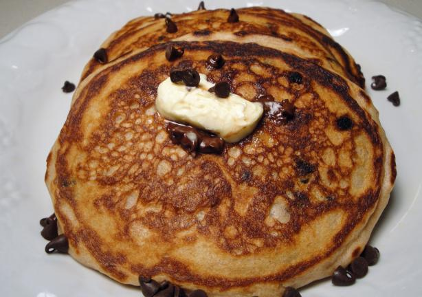 Chocolate Chip Sour Cream Pancakes, Diabetic. Photo by Debbwl