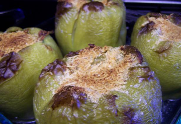 Emeril's Stuffed Bell Peppers or Sweet Banana Peppers. Photo by CarolAT