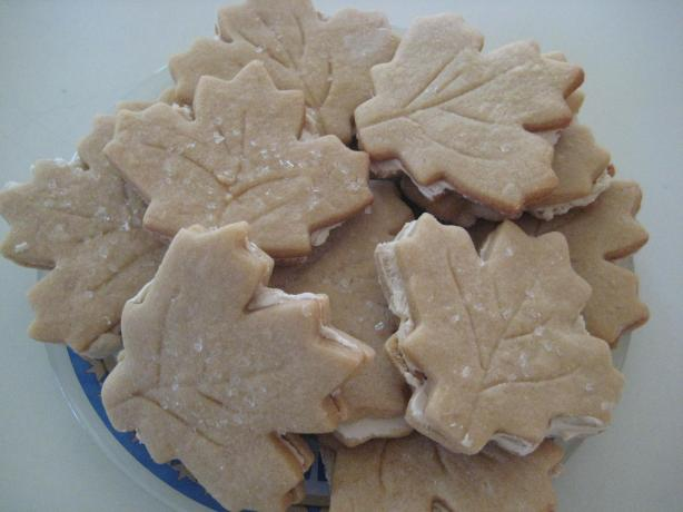 Maple Leaf Sandwich Cookies. Photo by Chef Denitomi