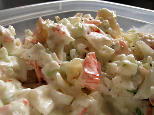 Italian Crab Salad, Spread or Dip. Photo by Caroline Cooks