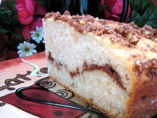 Cinnamon Hazelnut Layered Coffee Cake. Photo by Annacia