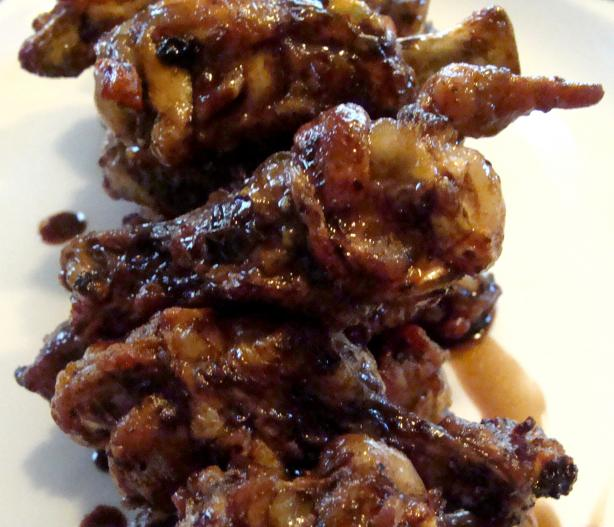 Balsamic Soy Glazed Chicken Wings. Photo by Lvs2Cook