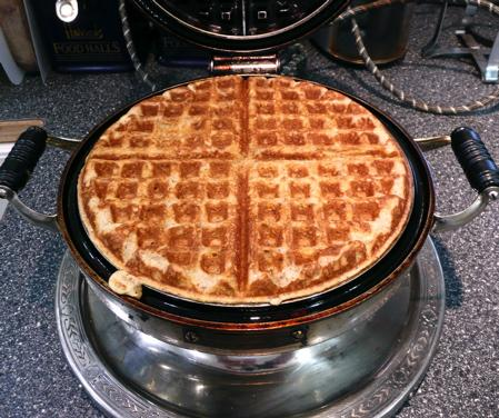 Buttermilk Cornmeal Waffles. Photo by Mikekey