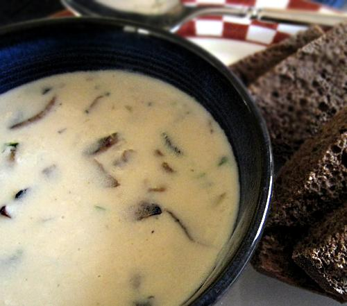 Easy Creamy Mushroom Soup. Photo by Caroline Cooks