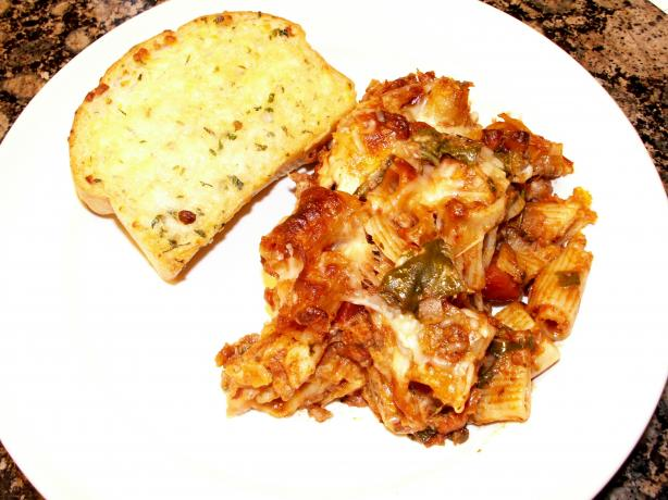Baked Penne With Sausage and Spinach (Oven or Crock-Pot). Photo by Cookin'Diva