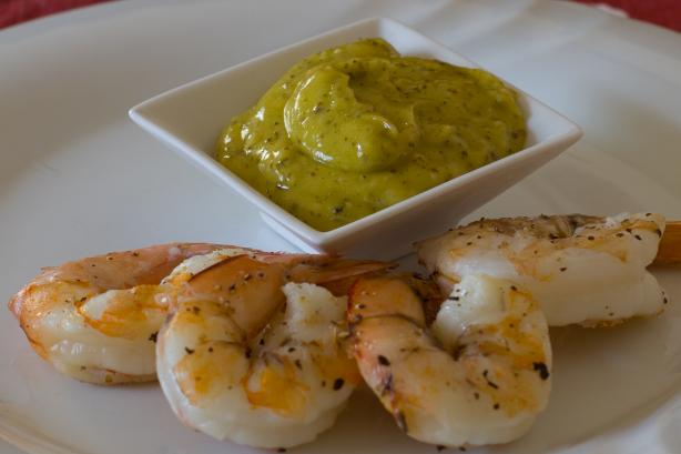 Australian BBQ Prawns With Lemon Myrtle Aioli. Photo by Peter J