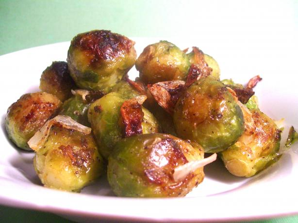 Roasted Brussels Sprouts and Red Onions. Photo by Sharon123