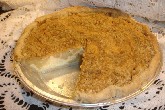Apple-Buttermilk Custard Pie. Photo by BakinBaby