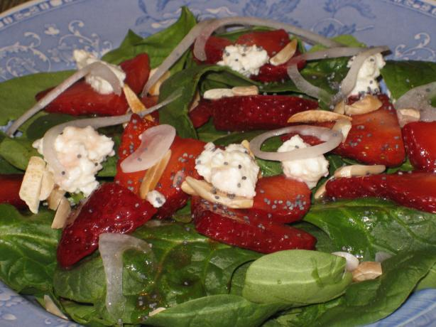 Sharon's Spinach/Strawberry Salad. Photo by BarbryT