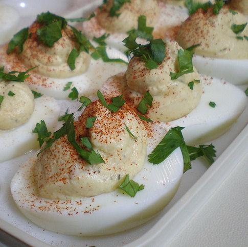 Guilt- and Yoke-Free Curried Deviled Eggs. Photo by Sandi (From CA)
