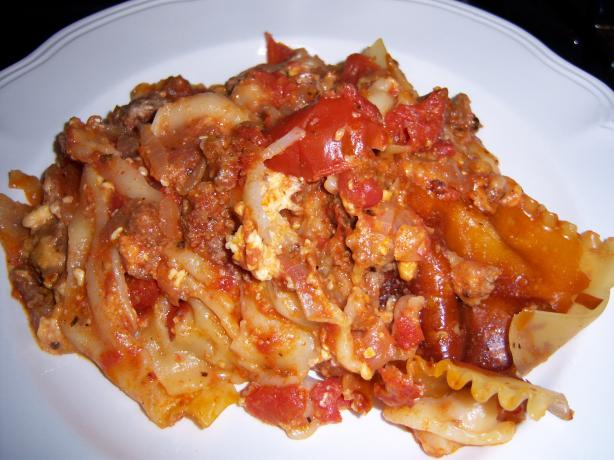 Crock Pot Lasagna (Ww). Photo by NELady