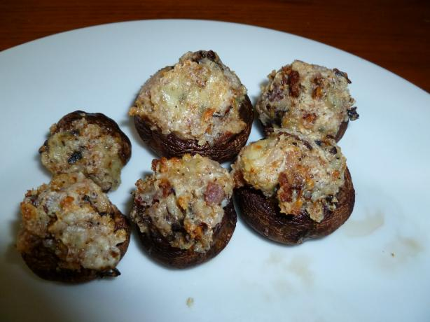 Bacon and Bleu Cheese Stuffed Mushrooms. Photo by Ambervim