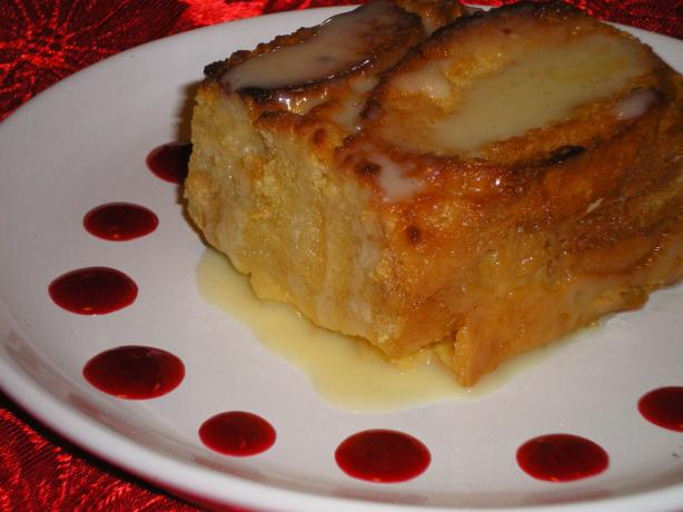 White Chocolate Bread Pudding With Raspberry and White Chocolate. Photo by Julie B's Hive