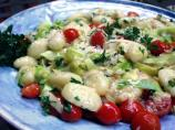 Gnocchi With Zucchini Ribbons & Basil Brown Butter