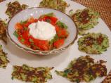 Zucchini and Sumac Fritters With Tomato and Mint Salsa