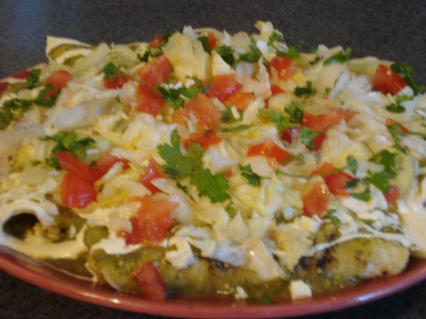 Enchiladas Verde. Photo by Muffin Goddess